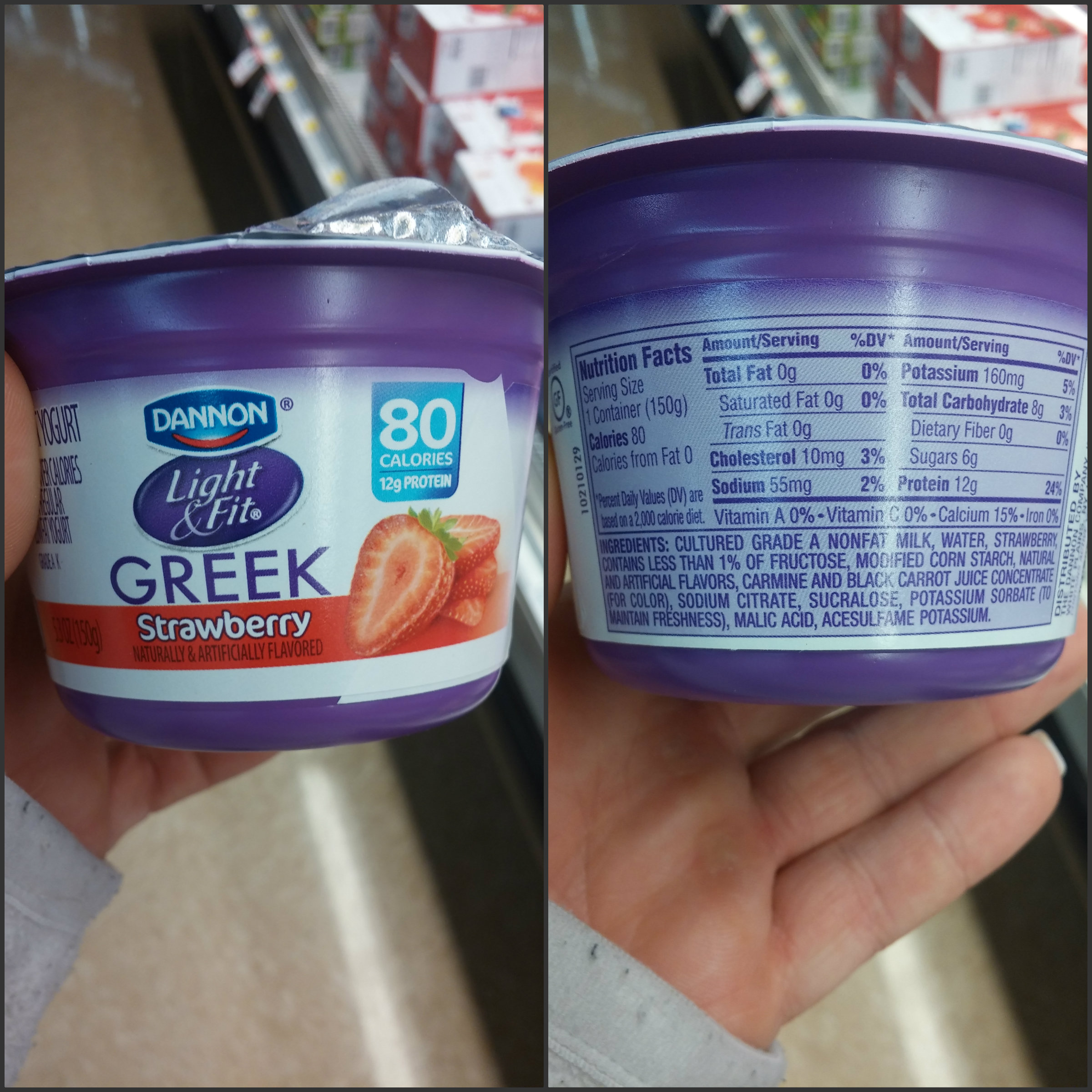 Dannon Light U0026 Fit Greek Strawberry